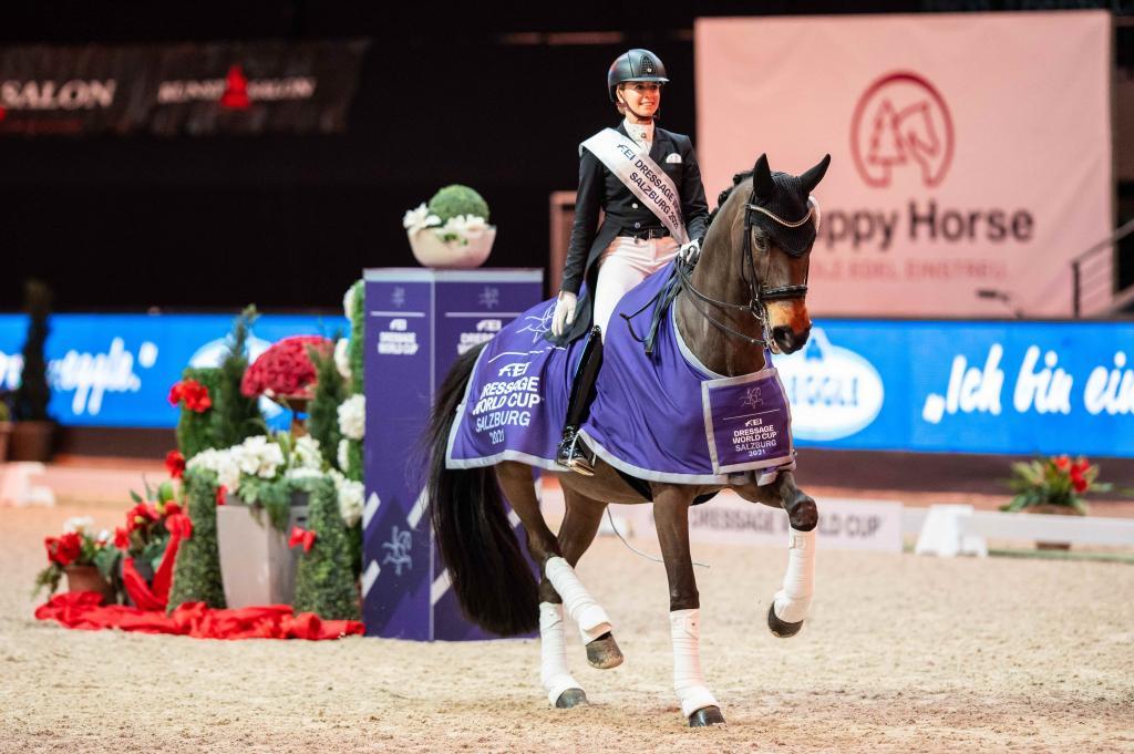 Jessica von Bredow-Werndl et TSF Dalera BB à Salzbourg (Crédit photo: FEI/Lukasz Kowalski)