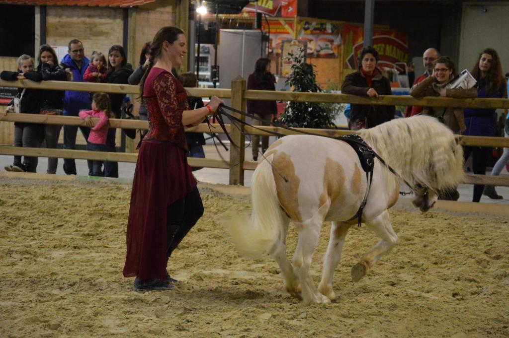 Cathy Mittig et son poney Blue (Crédit photo : Gaëlle Colinet)
