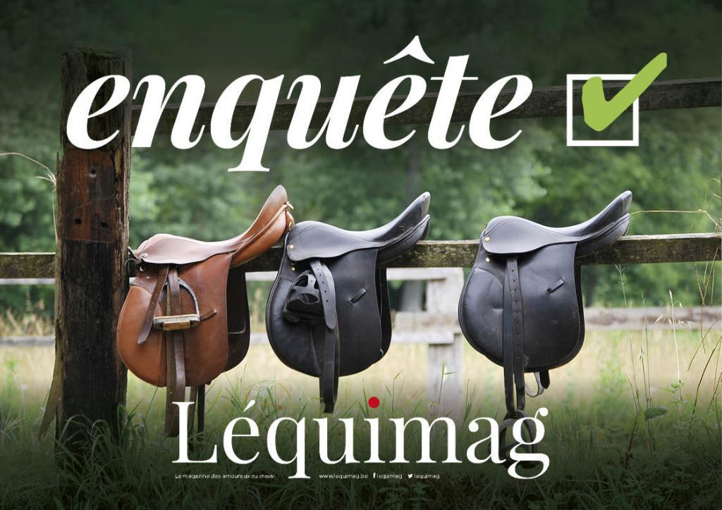 Léquimag mène l'enquête sur le comportement de consommation des cavaliers par rapport aux selles (Visuel : Léquimag)