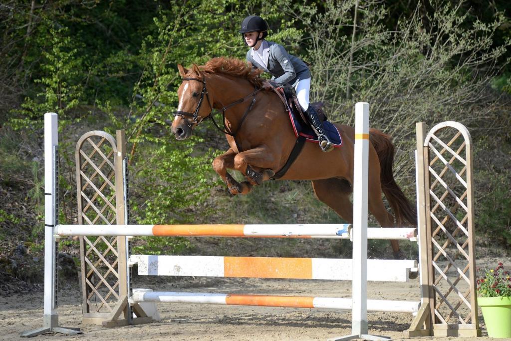 Vitoria Godimus et son cheval Un Prince Derick (Crédit photo : Photo Evénement)