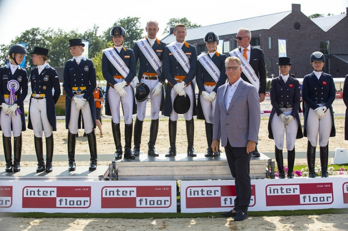 Le podium du CDIO 3* de Geesteren (Crédit photo: FEI / Leanjo of Digishots)