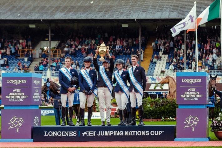 L'équipe britannique (Photo : FEI/Christophe Taniere)