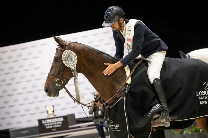 Nayel Nassar et Lucifer V (Photo : Longines Masters)