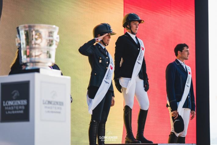 Le podium du Grand prix Longines (Photo : Longines Masters)