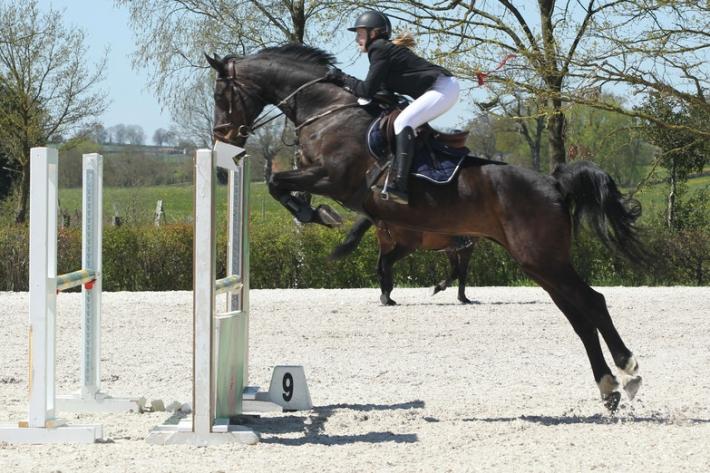 Marie Palm et son cheval Sarnike (Crédit photo : J. Lauwerens)