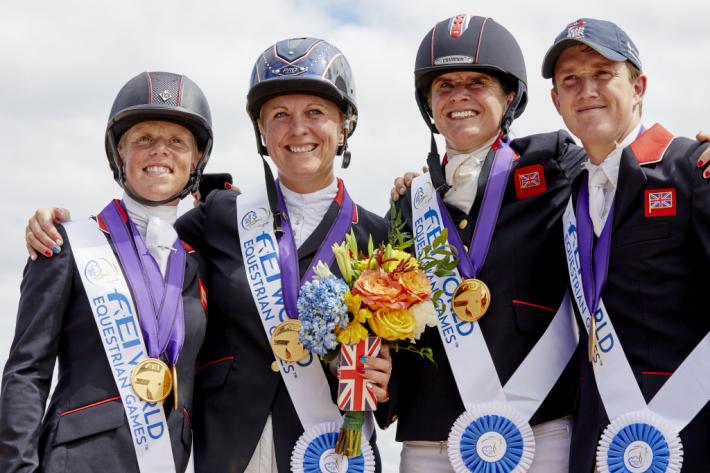 L'équipe britannique (Photo FEI/Liz Gregg)