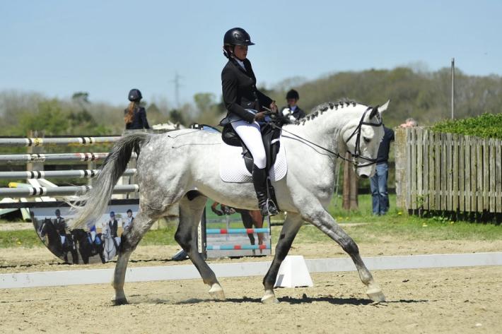 Charlotte Zamparini et son cheval Jonckman van De Kooldries (Crédit photo : Photo Evénement)