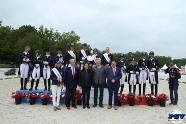 Le podium de la Coupe des nations du CDIO 5* de Compiègne (Crédit: PSV J.Morel)