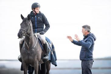 Kai Steffen-Meier avec Andrew Nicholson (Photo : Christophe Bortels)