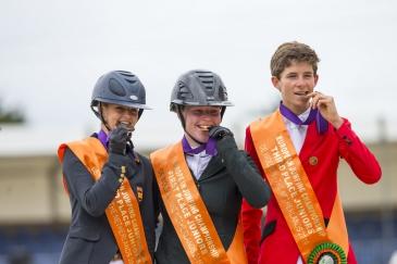 Le podium juniors (Photo : FEI/Leanjo de Koster)
