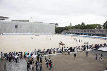 Le stade équestre de Tokyo était d'ores et déjà prêt (Photo : FEI)