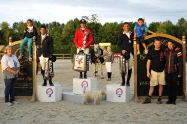 Le podium du mètre 20 (Crédit photo : Photo Evènement)