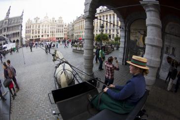 Calèche de Bruxelles (Crédit photo : Christophe Bortels)