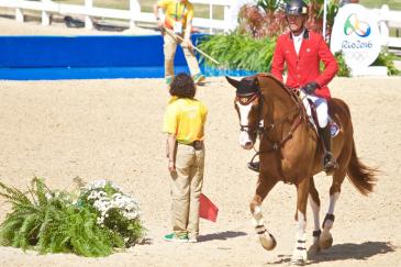 Jérôme Guéry et son cheval Grand Cru van de Rozenberg (Crédit photo : Sébastien Boulanger)