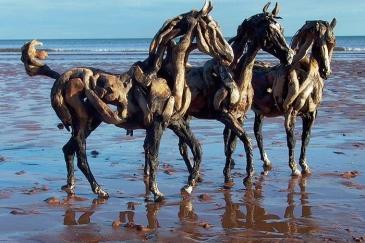 Les sculptures de l'artiste Heather Jansch sont très réalistes. (Crédit : Heather Jansch)