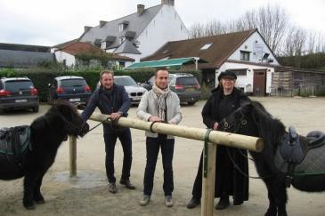 Eric Van Der Stock, Nicolas Van der Maren et Isabelle Dophijn (Crédit photo : L'équimag)