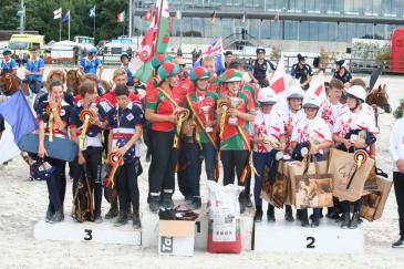 Le podium de la catégorie U17 (Crédit photo : Léquimag)