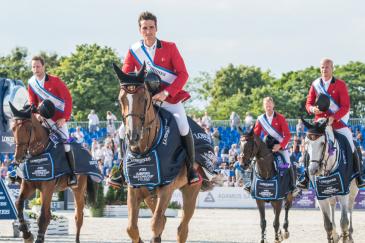 L'équipe belge (Photo : FEI/ Lukasz Kowalski)