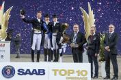 Le podium du premier Top 10 Saab (Crédit photo: Roland Thunholm)